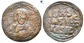 Attributed to Basil II and Constantine VIII AD 976-1028. Constantinople. Anonymous follis Æ