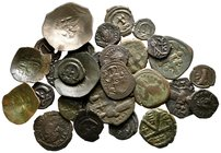 Lot of ca. 30 byzantine bronze coins / SOLD AS SEEN, NO RETURN!very fine