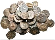 Lot of ca. 41 byzantine bronze coins / SOLD AS SEEN, NO RETURN!very fine