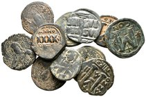 Lot of ca. 11 byzantine bronze coins / SOLD AS SEEN, NO RETURN!very fine