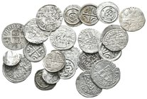 Lot of ca. 22 medieval silver coins / SOLD AS SEEN, NO RETURN!very fine