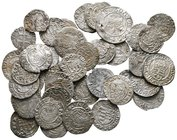 Lot of ca. 45 medieval silver coins / SOLD AS SEEN, NO RETURN!very fine