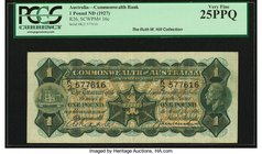 Australia Commonwealth Bank of Australia 1 Pound ND (1927) Pick 16c R26 PCGS Very Fine 25PPQ.   HID09801242017