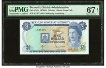 Bermuda Monetary Authority 1 Dollar 1.5.1984 Pick 28b PMG Superb Gem Unc 67 EPQ.   HID09801242017