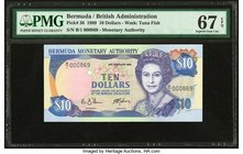 Bermuda Monetary Authority 10 Dollars 20.2.1989 Pick 36 PMG Superb Gem Unc 67 EPQ.   HID09801242017