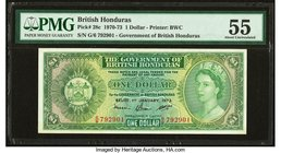 British Honduras Government of British Honduras 1 Dollar 1.1.1973 Pick 28c PMG About Uncirculated 55.   HID09801242017