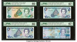 Cayman Islands Currency Board; Monetary Authority 5; 1 (3) Dollars 1996; 1998; 2001; 2010 Pick 17; 21a; 26a; 38a Four Examples PMG Gem Uncirculated 66...