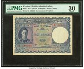 Ceylon Government of Ceylon 10 Rupees 4.8.1943 Pick 36A PMG Very Fine 30. Ink stamps.  HID09801242017