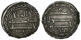 ABBASID, AL-RASHID (170-193h) One-sixth dirham, undated Obverse margin: chain border Obverse field: citing Da'ud Reverse margin: mimma amr bihi 'Abd A...