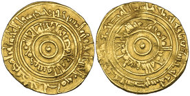 FATIMID, AL-'AZIZ (365-386h) Dinar, Filastin 373h Weight: 4.08g Reference: Nicol 675. Almost very fine, rare 