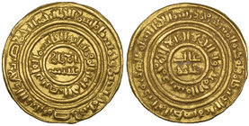 FATIMID, AL-FA'IZ (549-555h) Dinar, Misr 550h Weight: 3.72g Reference: Nicol 2674, citing two examples of this mint and date. Good very fine and rare ...