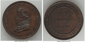 "Pedro II bronze ""Historical and Geographical Institute"" Medal 1849 UNC (Lacquer Residue), Meili-153. 37mm. 26.42gm. From the Dresden Collection of His..."