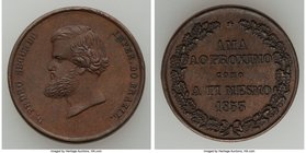 "Pedro II bronze ""Humanity"" Medal 1853 UNC, 23mm. 6.86gm. The reverse translates to: Love thy neighbor as thyself. From the Dresden Collection of Hispa..."