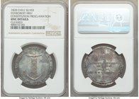 "Republic silver ""Constitution Proclamation"" Medal 1828 UNC Details (Cleaned) NGC, Fonrobert-9851. 33mm. From the Dresden Collection of Hispanic and Br..."