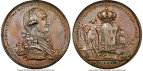 "Charles IV bronze ""Consulate of Mexico"" Proclamation Medal 1789 MS65 Brown NGC, Grove-C-26C. 42mm. From the Dresden Collection of Hispanic and Brazili..."