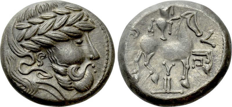 "EASTERN EUROPE. Imitations of Audoleon (2nd-1st centuries BC). Tetradrachm. ""Y a..."