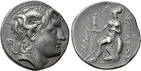 KINGS OF THRACE (Macedonian). Lysimachos (305-281 BC). Tetradrachm. Amphipolis.