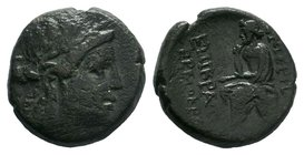 Ionia, Smyrna Æ Homereion. After 190 BC.   Condition: Very Fine  Weight: 8.89 gr Diameter: 20 mm