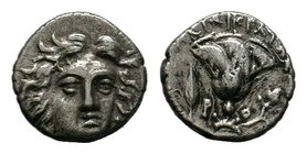 ISLANDS off CARIA. Rhodes. Circa 205-188 BC. AR Drachm    Condition: Very Fine  Weight: 1.22 gr Diameter: 12 mm