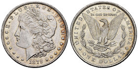 United States. 1 dollar. 1879. Philadelphia. (Km-110). Ag. 26,71 g. Minor contact marks. Almost XF. Est...40,00.