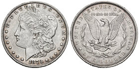 United States. 1 dollar. 1879. New Orleans. O. (Km-110). Ag. 26,70 g. Choice VF. Est...35,00.