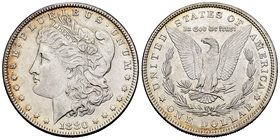 United States. 1 dollar. 1880. Philadelphia. (Km-110). Ag. 26,65 g. It retains some luster. XF. Est...40,00.