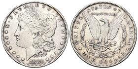 United States. 1 dollar. 1880. New Orleans. O. (Km-110). Ag. 26,76 g. Choice VF. Est...25,00.