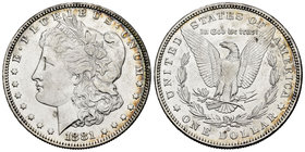 United States. 1 dollar. 1881. New Orleans. O. (Km-110). Ag. 26,62 g. Almost XF. Est...35,00.