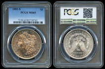 United States. 1 dollar. 1881. San Francisco. S. (Km-110). Ag. Slabbed by PCGS as MS 65. Est...200,00.