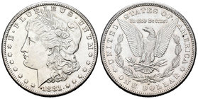 United States. 1 dollar. 1881. San Francisco. S. (Km-110). Ag. 26,64 g. Minor contact marks. Almost XF. Est...30,00.
