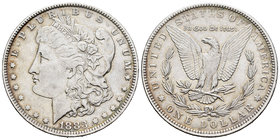 United States. 1 dollar. 1883. New Orleans. O. (Km-110). Ag. 26,68 g. It retains some luster. Almost XF/XF. Est...35,00.