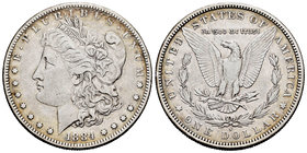 United States. 1 dollar. 1884. San Francisco. S. (Km-110). Ag. 26,56 g. VF. Est...25,00.