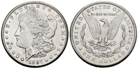 United States. 1 dollar. 1887. San Francisco. S. (Km-110). Ag. 26,76 g. Almost XF. Est...35,00.