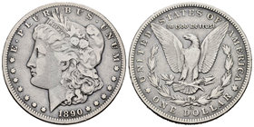United States. 1 dollar. 1890. Carson City. CC. (Km-110). Ag. 26,26 g. Scarce. Choice F. Est...75,00.