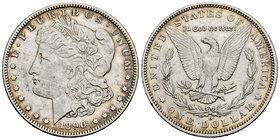 United States. 1 dollar. 1890. New Orleans. O. (Km-110). Ag. 26,63 g. Choice VF. Est...30,00.
