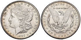 United States. 1 dollar. 1890. San Francisco. S. (Km-110). Ag. 26,64 g. Hairlines. XF. Est...35,00.