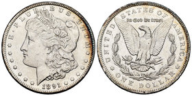United States. 1 dollar. 1891. Philadelphia. (Km-110). Ag. 26,71 g. Minor contact marks. Almost XF. Est...35,00.