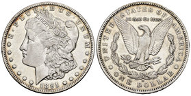United States. 1 dollar. 1891. New Orleans. O. (Km-110). Ag. 26,52 g. Choice VF. Est...25,00.