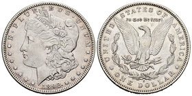 United States. 1 dollar. 1892. San Francisco. S. (Km-110). Ag. 26,53 g. Hairlines. VF. Est...30,00.
