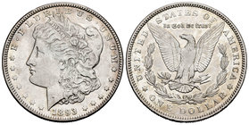 United States. 1 dollar. 1893. Philadelphia. (Km-110). Ag. 26,60 g. Very scarce. Choice VF. Est...150,00.