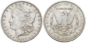 United States. 1 dollar. 1894. New Orleans. O. (Km-110). Ag. 26,61 g. Almost XF. Est...35,00.