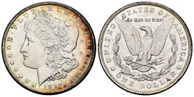United States. 1 dollar. 1897. Philadelphia. (Km-110). Ag. 26,66 g. It retains some luster. XF. Est...40,00.