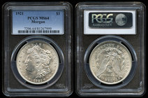 United States. 1 dollar. 1921. Philadelphia. (Km-110). Ag. Slabbed by PCGS as MS 64. Est...120,00.