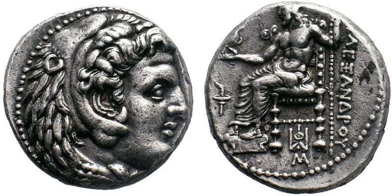 KINGS of MACEDON. Alexander III. 336-323 BC. AR Tetradrachm. Babylon mint. Lifet...