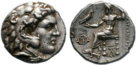 KINGS of MACEDON. Alexander III. 336-323 BC. AR Tetradrachm. Babylon mint. Lifetime issue, struck circa 325-323 BC. Head of Herakles right, wearing li...