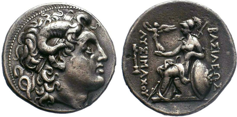 KINGS of THRACE, Macedonian. Lysimachos. 305-281 BC. AR Tetradrachm. Pergamon mi...