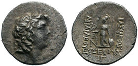 Kings of Cappadocia. Mint A (Eusebeia under Mt.Argaios). Ariarathes IX Eusebes Philopator 101-87 BC. Dated RY 13=88/7 BC.AR Drachm .Diademed youthful ...