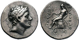 SELEUKID EMPIRE. Antiochos Hierax. Circa 242-227 BC. AR Tetradrachm . Smyrna or Sardes mint ?. Diademed head right / BAΣIΛEΩΣ ANTIOXOY Apollo Delphios...