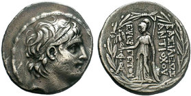 KINGS OF CAPPADOCIA. Ariarathes VI Epiphanes Philopator. Circa 118-106 B.C. AR Tetradrachm. In the name and types of Antiochos VII of Syria. Mint II, ...