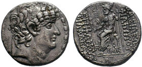 Syria, Seleucis and Pieria. Antiochia ad Orontem. Q. Caecilius Bassus. Rebel Governor, 46/5 B.C. AR tetradrachm . In the name of Philip I Philadelphos...